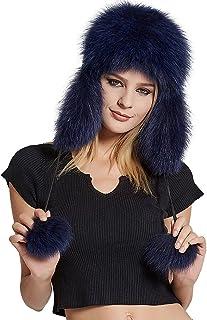 188455af9eb Fur Story Women s Trapper Hat Sheep Leather Earmuffs Warm Winter Fur Hat