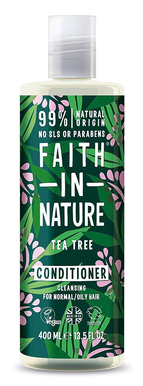 メトロポリタン海軍馬力Faith In Nature Tea Tree Deep Cleansing Conditioner Normal To Greasy Hair 400ml