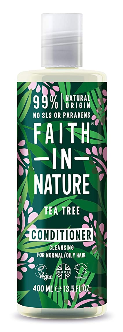 変更可能アラブサラボ困ったFaith In Nature Tea Tree Deep Cleansing Conditioner Normal To Greasy Hair 400ml