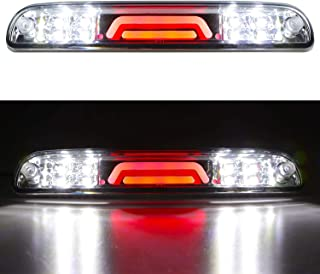 LED 3rd Brake Light Rear Tail Cargo Lamp Waterproof High Mount Brake Light Replacement For Ford Super Duty/Ranger/Mazda B-Series YC3Z13A613BA (Chrome Housing Clear Lens)