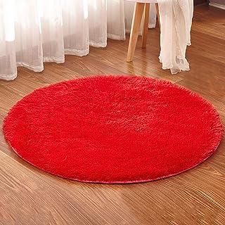 Amazon.es: Alfombras Redondas Rojo