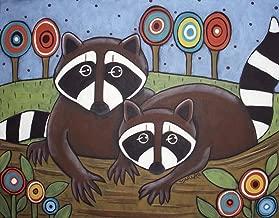 2 Raccoons by Karla Gerard Art Print, 13 x 10 inches