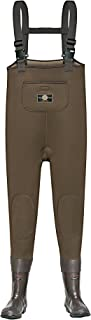 Yong Chao Men's Chest Wader 3.5mm Neoprene Chest Waders Waterproof 200G Thinsulate Adjustable Fishing Hunting Cleated Bootfoot Chest Waders(Brown)