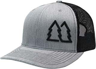 WUE Simple Pine Trees Trucker Hats for Men Adjustable Snapback Mesh Cap Great for Outdoors