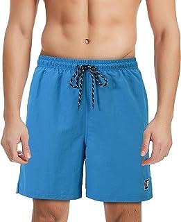 Hombre Bañadores Pantalones Cortos de Playa Bermuda Shorts con Forro