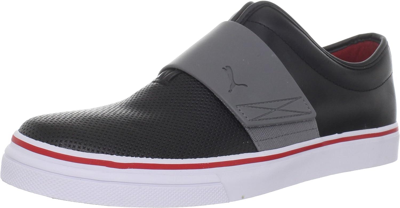 Amazon.com | PUMA Men's EL Rey Cross Perf Leather Slip-On Sneaker ...