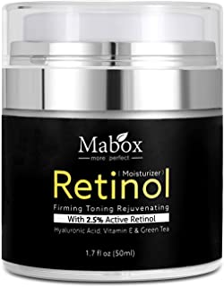 Mabox Retinol Moisturizer Cream 1.7 Oz - With Retinol,