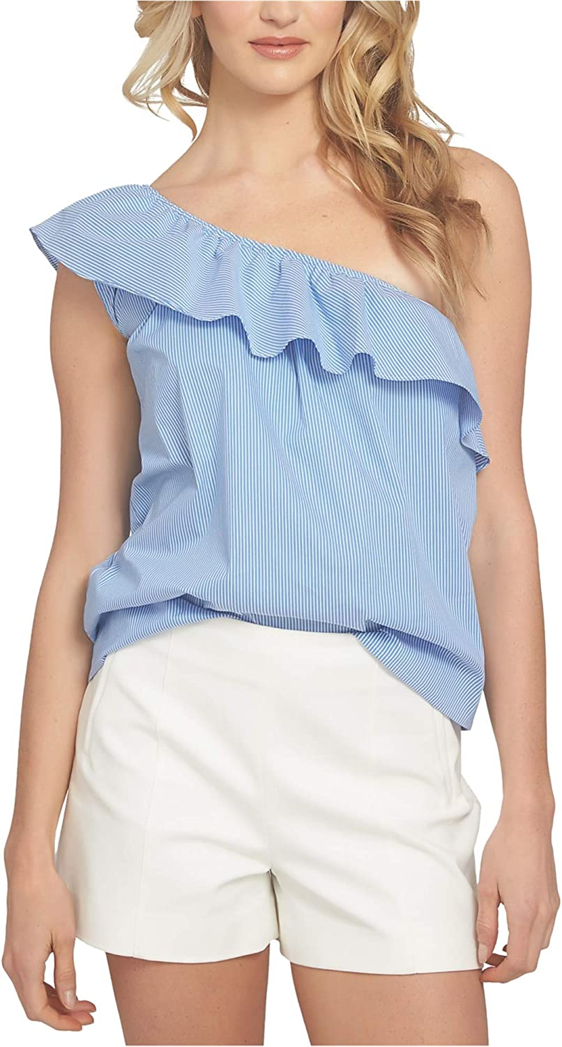 1.State Womens Ruffle One Shoulder Blouse