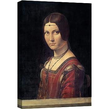 canvashop Quadro Leonardo da Vinci Ginevra Quadri Moderni Soggiorno Stampa su Tela con Telaio cm 100x70