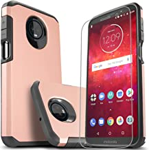 Moto Z3 Case, Moto Z3 Play Case with [Premium Screen Protector Included], Starshop Shock Absorption Drop Protection Impact Advanced Rugged Protective Phone Cove for Moto Z3/ Z3 Play-Rose Gold