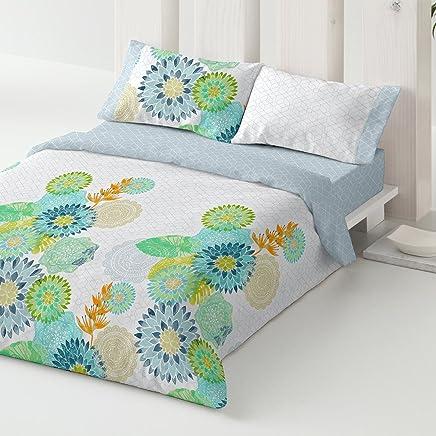912b5a26af Burrito Blanco Bettbezug-Set 097 3 Teile (1 Bettbezug 1 Kissenbezug und 1  Spannbettuch