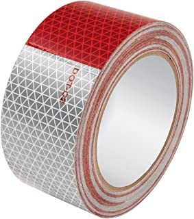 "Allstar ALL14240 Red and White Triangle Pattern 2"" Wide x 50' Long Roll Reflective Tape"