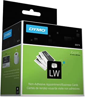 DYMO 30374 LabelWriter Business/Appointment Cards, 2 x 3 1/2, White, 300 Labels/Roll