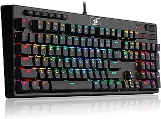لوحة مفاتيح الألعاب الميكانيكية REDRAGON K579 للألعاب الميكانيكية ذات الإضاءة الخلفية مع مفاتيح ماكرو 104 مفتاح للحاسوب ال...