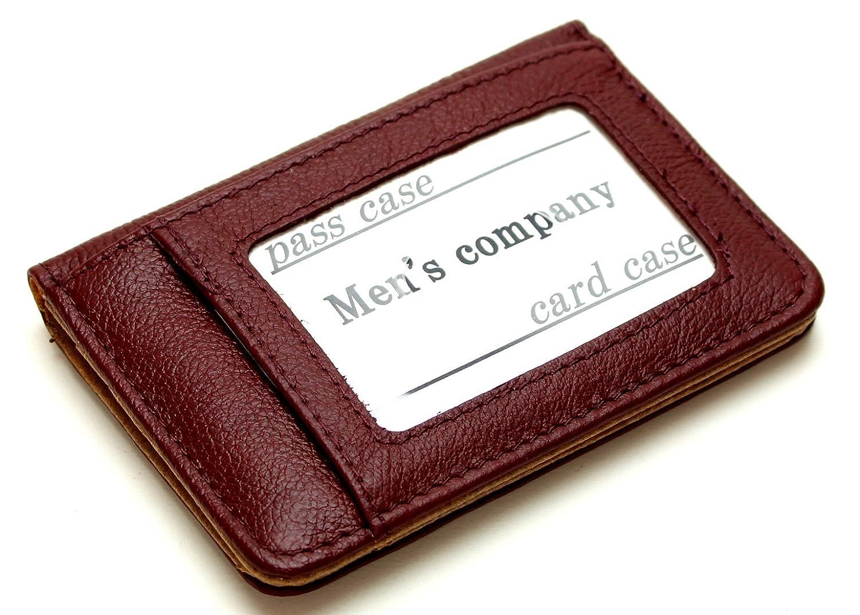 [メンズ カンパニー]Men's company 2面パスケース 2つ折り 牛革