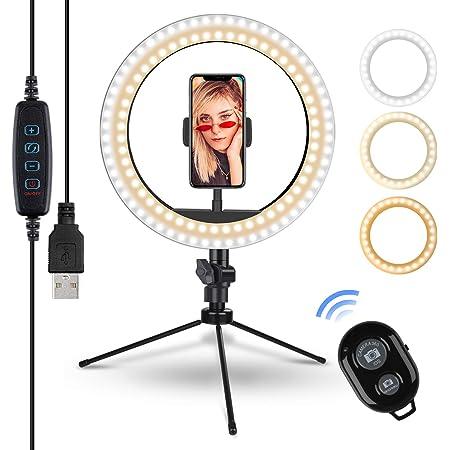 10 2 Zoll Selfie Ringleuchte Mit Stativ Rovtop Led Kamera