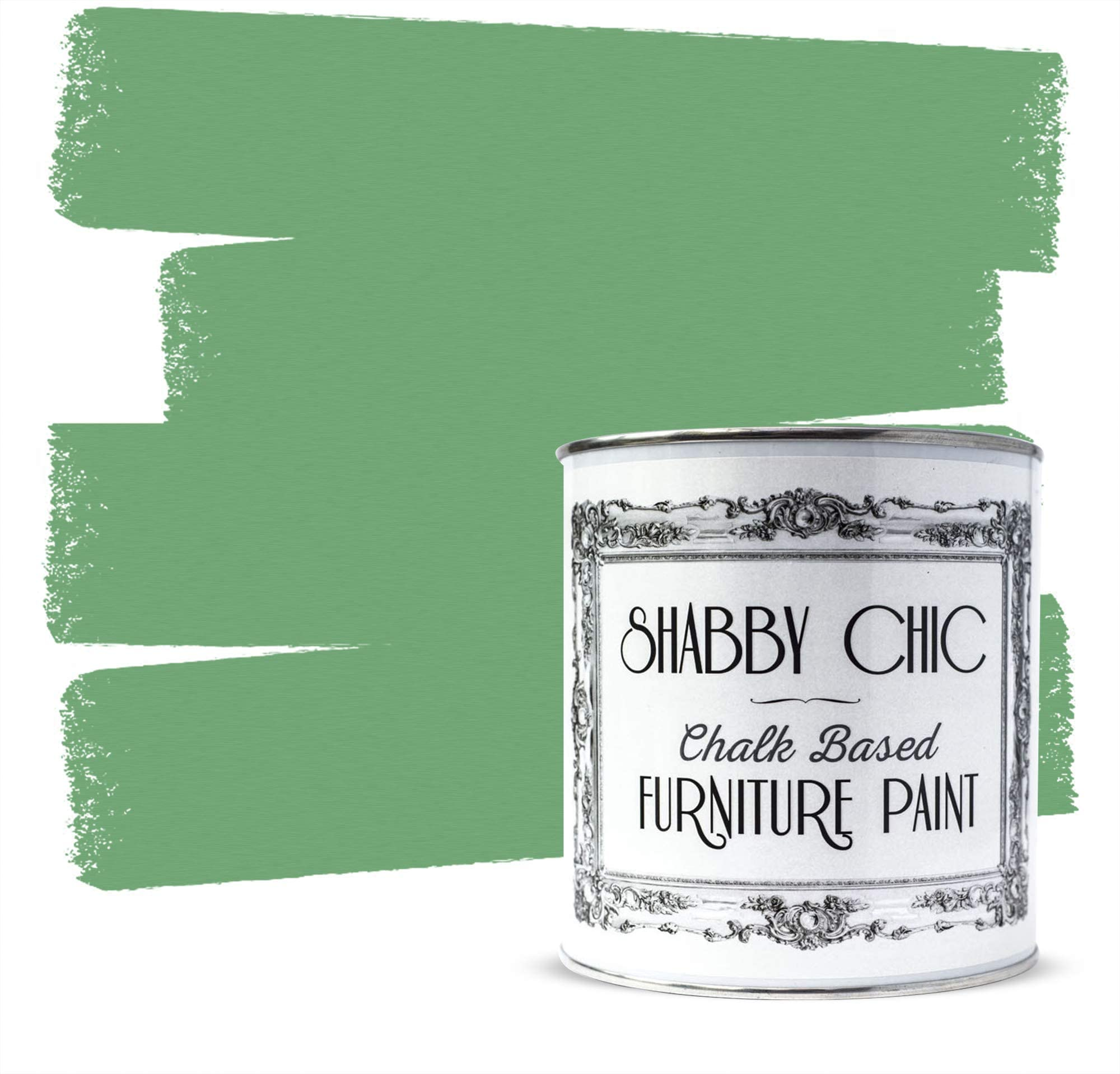 Shabby Chic Furniture Chalk Paint: Chalk Based Furniture and Craft Paint for Home Decor, DIY Projects, Wood Furniture - Chalked Interior Paints with Rustic Matte Finish - Liter - Cottage Green