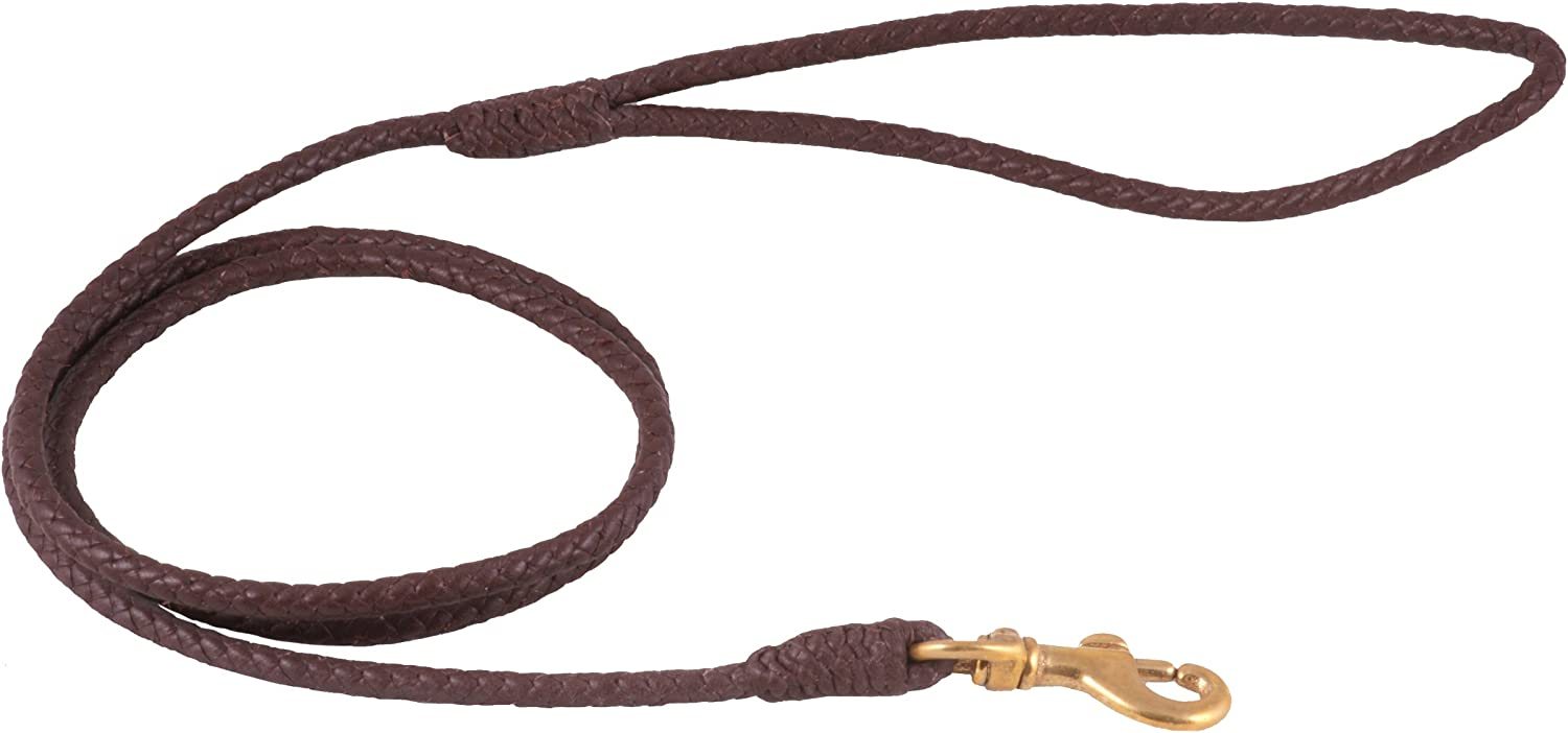 Alvalley Braided Leather Dog Leashes with Clip Snap Pet wholesale Leads New Shipping Free -
