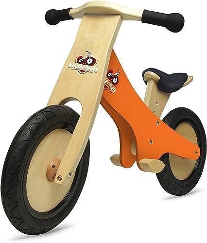 Kinderfeets Classic - Laufrad aus Holz mit Tafel - geeignet für Kinder ab 2 Jahren - Orange