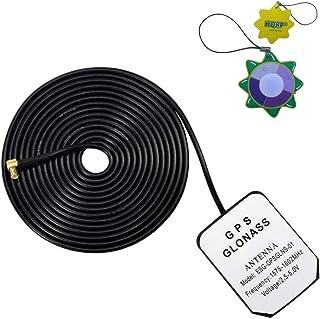 HQRP Antena externa GPS amplificada 1575.42 MHz de montaje magnético para AT&T Cisco 3G MicroCell Extensor de red de anten...
