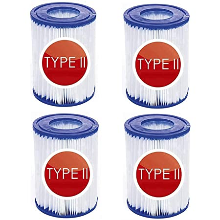 CXYXHW Lot de 4 cartouches de filtre pour piscine pour Bestway 58094 - Filtre pour piscine de type II
