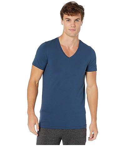 Hanro Cotton Superior V-Neck Shirt (Seaport) Men