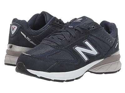New Balance Kids 990v5 Launch (Little Kid) (Navy) Kids Shoes