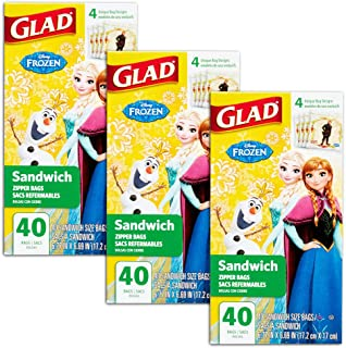 Disney Princess Lunch Bags for Kids Girls ~ 120 Ct Value Pack (Pack of 3 40-ct Sandwich Bags; Disney Princess School Supplies)