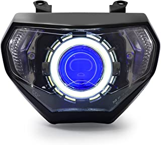 KT for 2014 2015 2016 Yamaha FZ09 / 2014 2015 2016 Yamaha MT09 Custom Headlight Assembly Blue Demon Eye