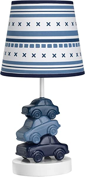 Lambs Ivy Metropolis Blue Cars Automobiles Nursery Lamp With Shade Bulb
