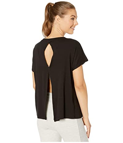 Beyond Yoga Split Keyhole Back Tee (Black) Women