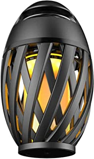 EBAKIN Flame Light LED Flickering Flameless Lamp Lantern with Bluetooth Speaker, Outdoor Portable Stereo Speaker with HD Audio and Enhanced Bass