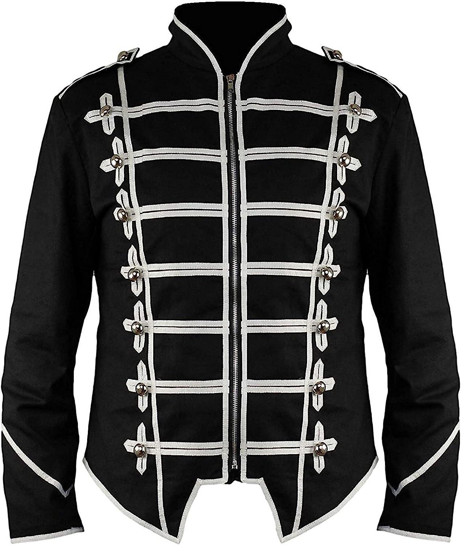 Ro Rox Steampunk Military Drummer Emo Punk Gothic Parade Jacket