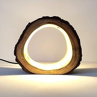 led log lamp table lamp rustic lamp desk lamp handmade lamp