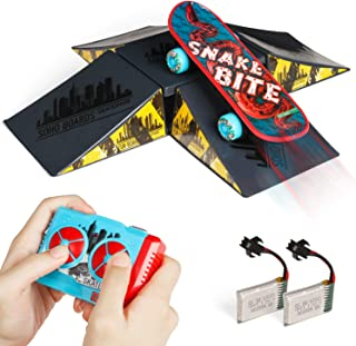 Remote Control Car, Novelty Design Remote Control Skateboard Toy with 4-Sided Pyramid Skateboard Kit, RC Car Xmas Gifts for Kids with Rechargeable Batteries for Boys and Girls Aged 8 and Up