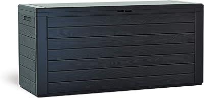 KG Kitgarden KitGarden-Arcón Multiusos de Exterior, Capacidad, 116x44x55cm, Marrón, Multi Storage Box 280L