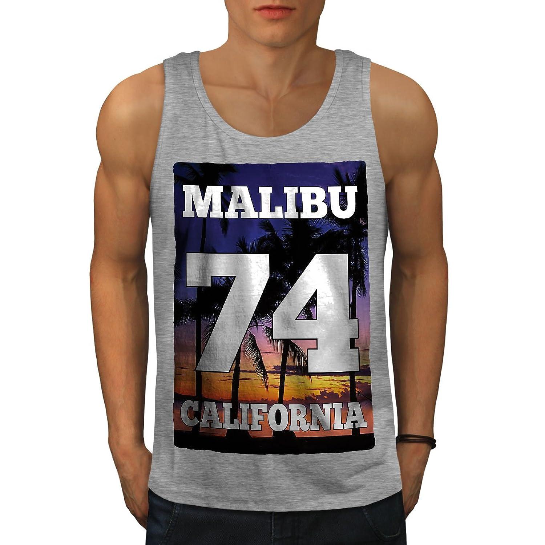 Wellcoda マリブ カリフォルニア 男性用 S-2XL タンクトップ