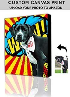 Custom Pet Wall Art - Pet Pop Art from Photo to Canvas - Pet Wall Art - Personalize Pet Picture to Pop Art On Canvas Wall Art, Unique Dog & Cat Gifts, Custom Pet Portraits, Popart (16