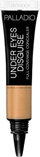Palladio Under Eyes Disguise Full Coverage Concealer, Cafe Au Lait, 0.35 oz, Creamy Face and Eye Concealer, Evens Skin Tone, Conceals Blemishes, Dark Circles and Fine Lines, Use with Concealer Brush