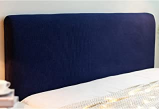 Headboard Cover Solid Color Durable Headboard Protection Dust Cover Elastic All-Inclusive Soft Cozy Headboards Slipcover (...