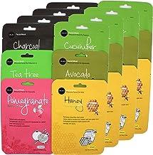 Celavi Essence Facial Face Mask Paper Sheet Korea Skin Care Moisturizing 4 packs for each 6 flavors (New) K-Beauty Skincar...