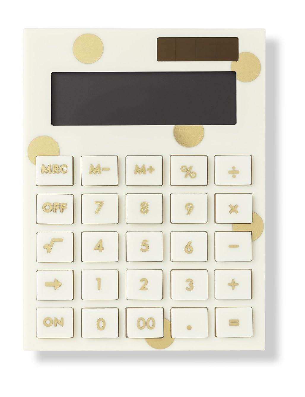 全能ユーザー買い手Kate Spade New Yorkアクリル電卓、ゴールドドット