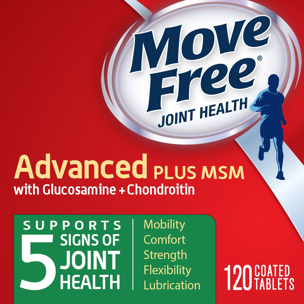5 ☆ popular Move Free Advanced Plus MSM 120 Health overseas Joint Suppleme tablets -