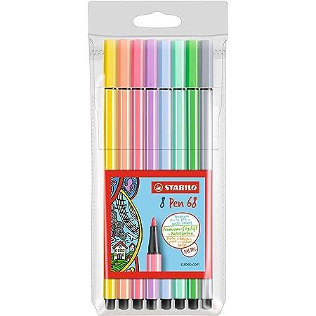 Pennarello Premium - STABILO Pen 68 - Astuccio da 8 - Colori Pastello