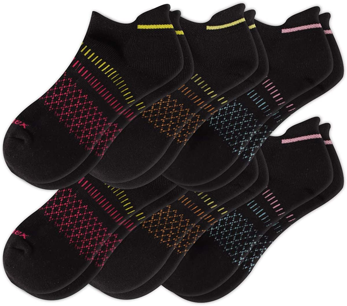 Comfoex Womens Ankle Socks Cotton 6 Pairs Athletic Running Cushioned Socks With Tab