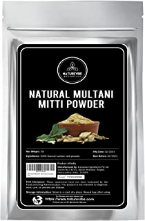 100% Pure & Natural Multani Mitti Powder (The Indian Clay) (0.5kg) by Naturevibe Botanicals, For Skin Care (470mls)