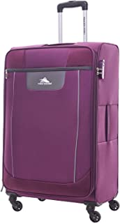 High Sierra Travel Tank Softside Spinner Luggage 78cm with 3 digit Number Lock - Purple