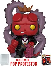 Funko Pop! Comics: Hellboy - Hellboy in Suit (2018 Convention Exclusive) Vinyl Figure (Bundled Pop Box Protector Case)