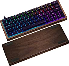 CENNBIE 60% Mini Mechanical Gaming Keyboard - Hot-Swap - Cherry MX Blue Switches - RGB LED Backlit - Portable Wooden Frame Detachable Cable Gaming Keyboard for Laptop,PC and Mac