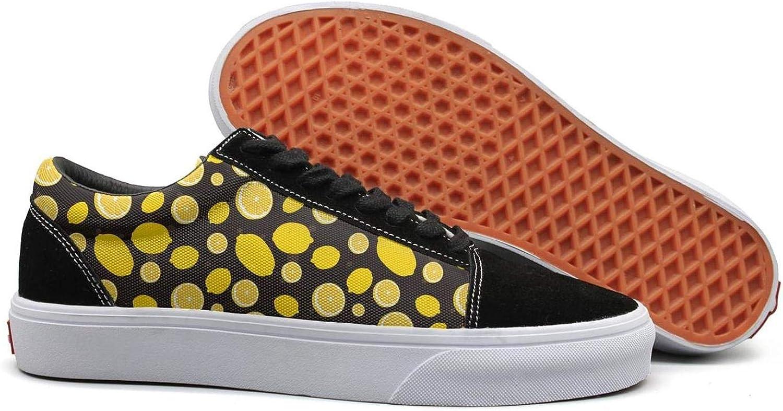 Lemon Cartoon Pictures Womens Lace Up Canvas shoes Canvas Upper